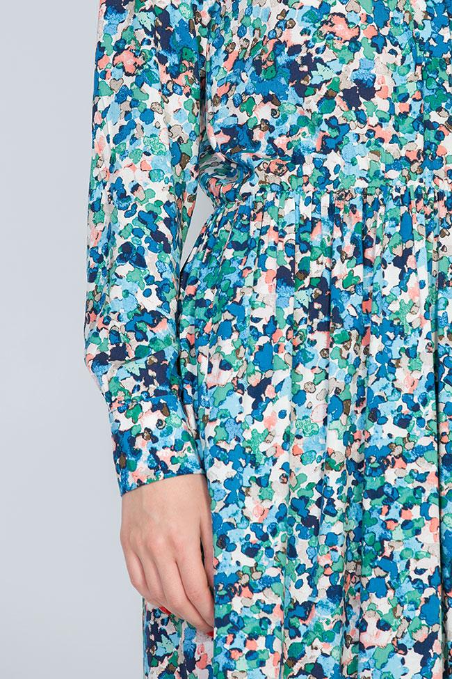 Floral-print jersey midi dress BLUZAT image 3
