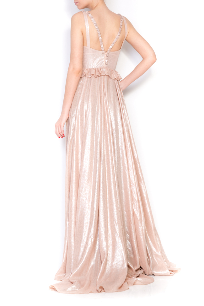 Lucinda coated metallic peplum maxi dress Simona Semen image 2