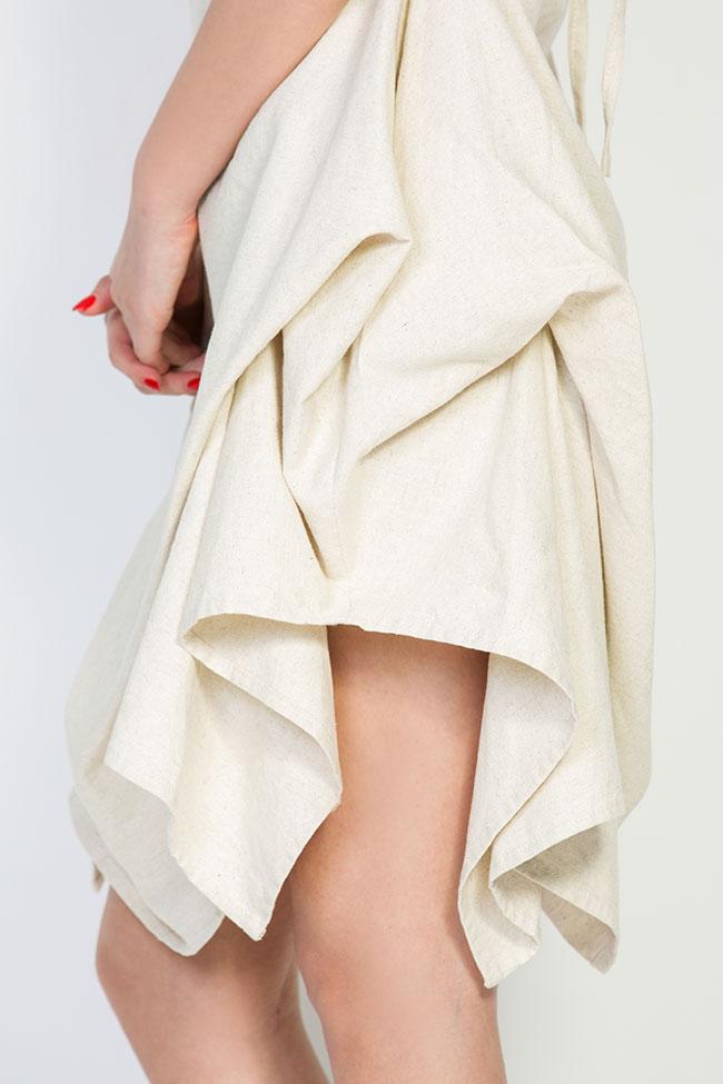 Robe asymétrique en coton, 2 en 1 Nicoleta Obis image 3