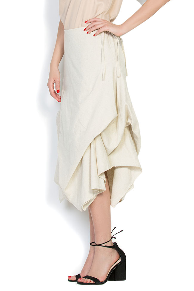 Robe asymétrique en coton, 2 en 1 Nicoleta Obis image 4