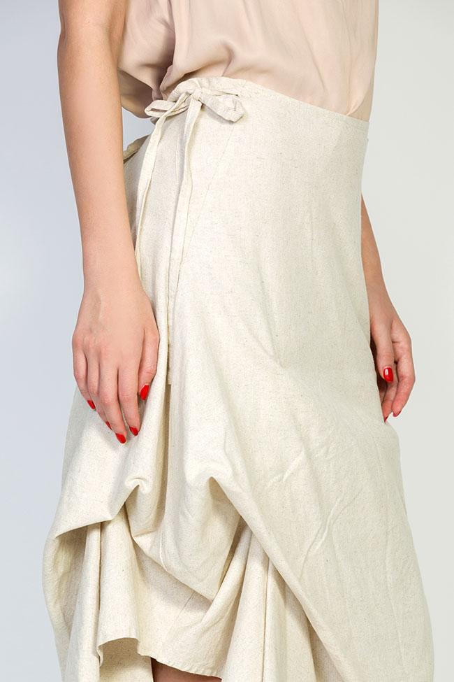 Robe asymétrique en coton, 2 en 1 Nicoleta Obis image 6