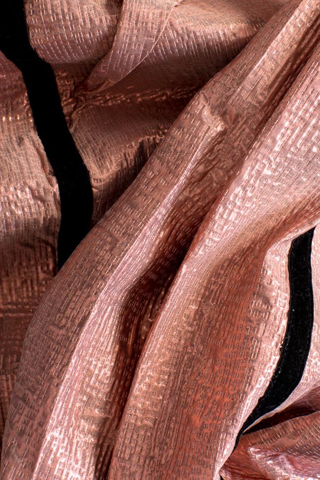 Pantaloni din jacard cu insertii din catifea Luz Simona Semen imagine 4