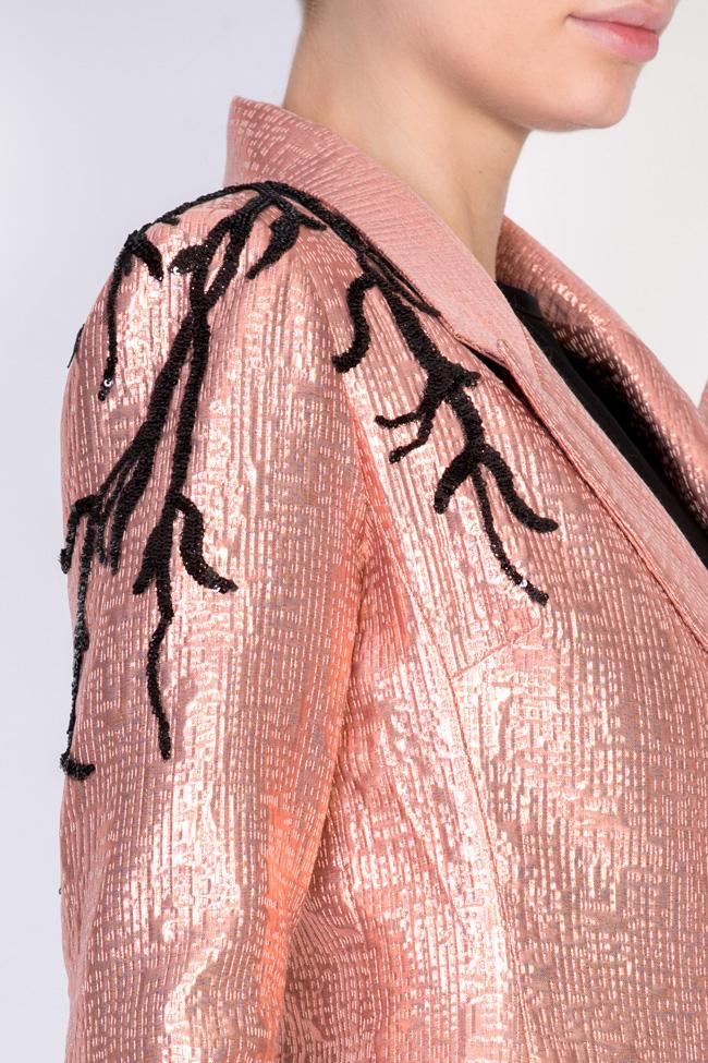 Liv embellished jaquard blazer Simona Semen image 3