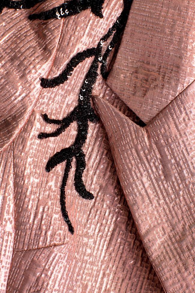 Sacou din jacard cu insertii din paiete Liv Simona Semen imagine 4