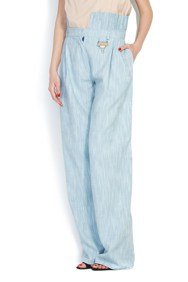 Cotton wide-leg pants A03 image 2