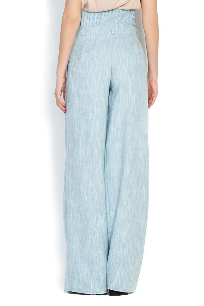 Cotton wide-leg pants A03 image 1
