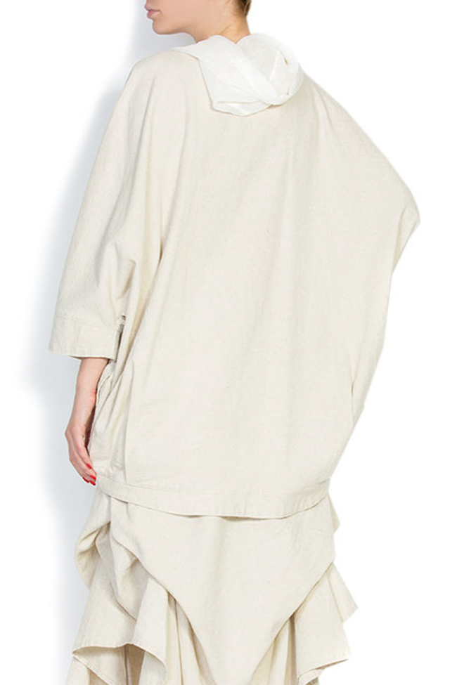 Cotton linen hooded top Nicoleta Obis image 2