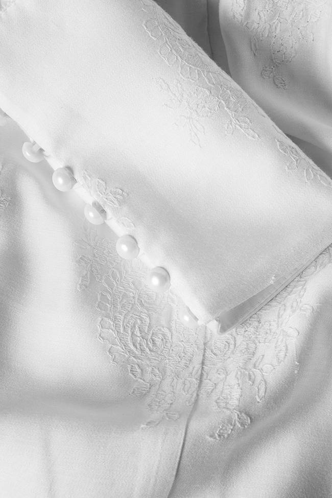 Robe en coton brodé, avec des volants Zenon image 4