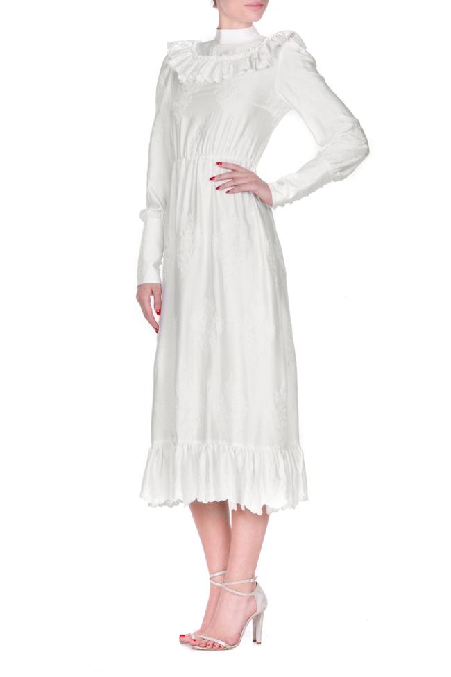 Robe en coton brodé, avec des volants Zenon image 1