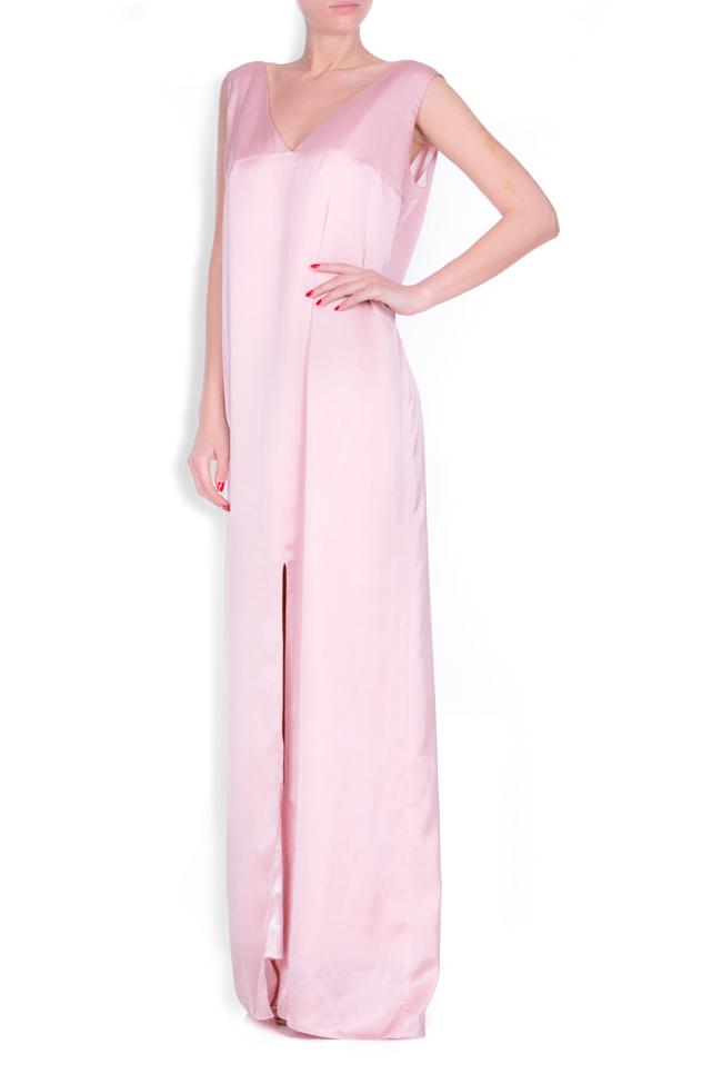Open-back satin maxi dress Zenon image 1