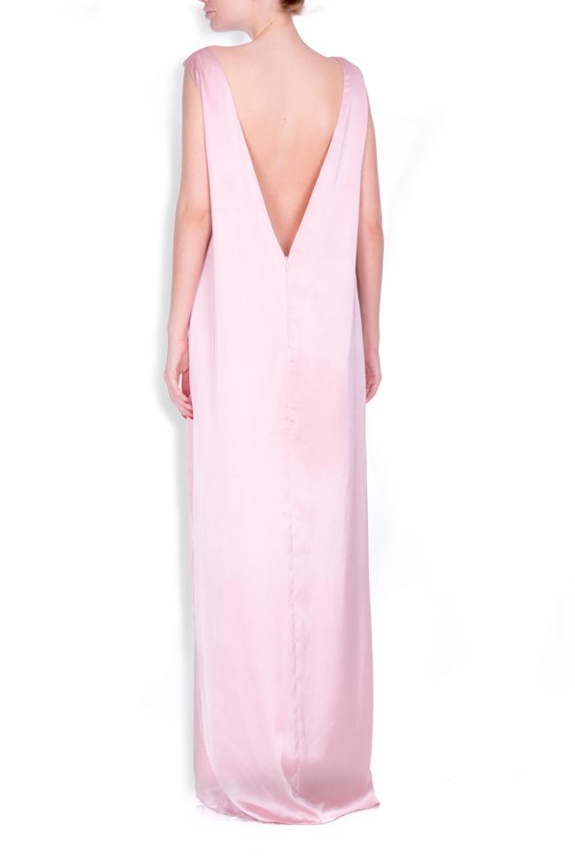 Open-back satin maxi dress Zenon image 2