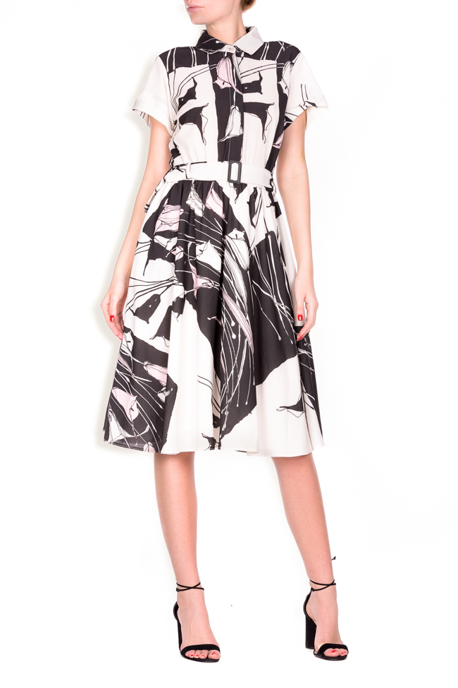 Beltde printed jersey dress Lure image 0