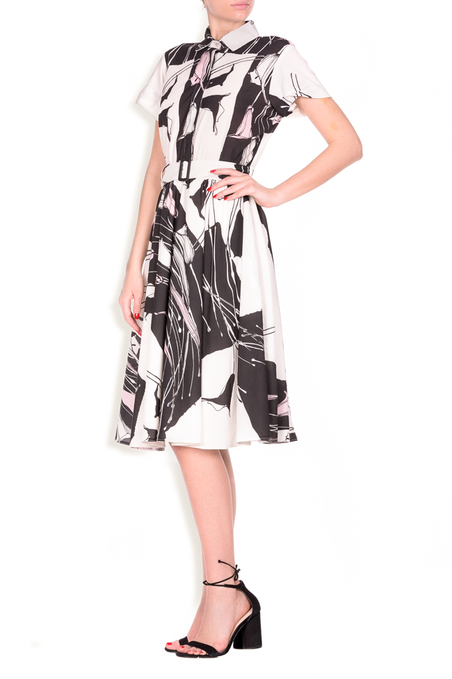 Beltde printed jersey dress Lure image 1