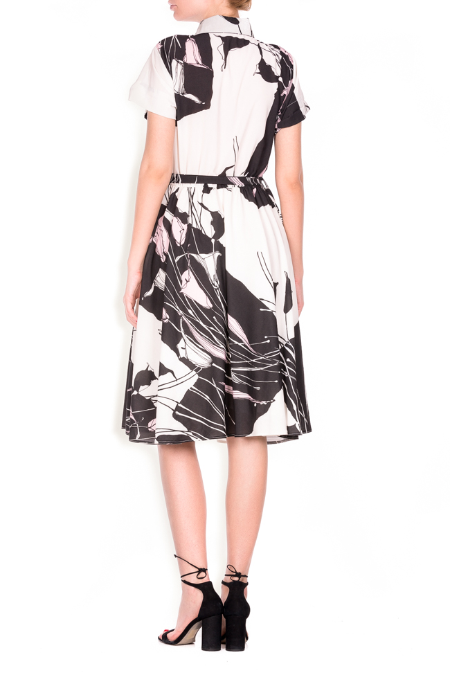 Beltde printed jersey dress Lure image 2