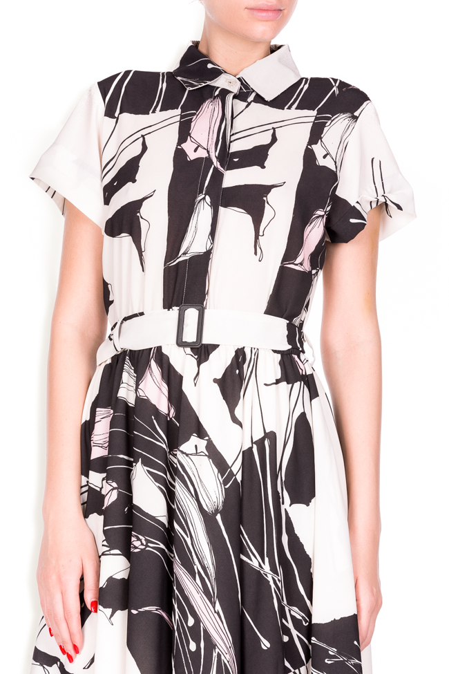 Beltde printed jersey dress Lure image 3