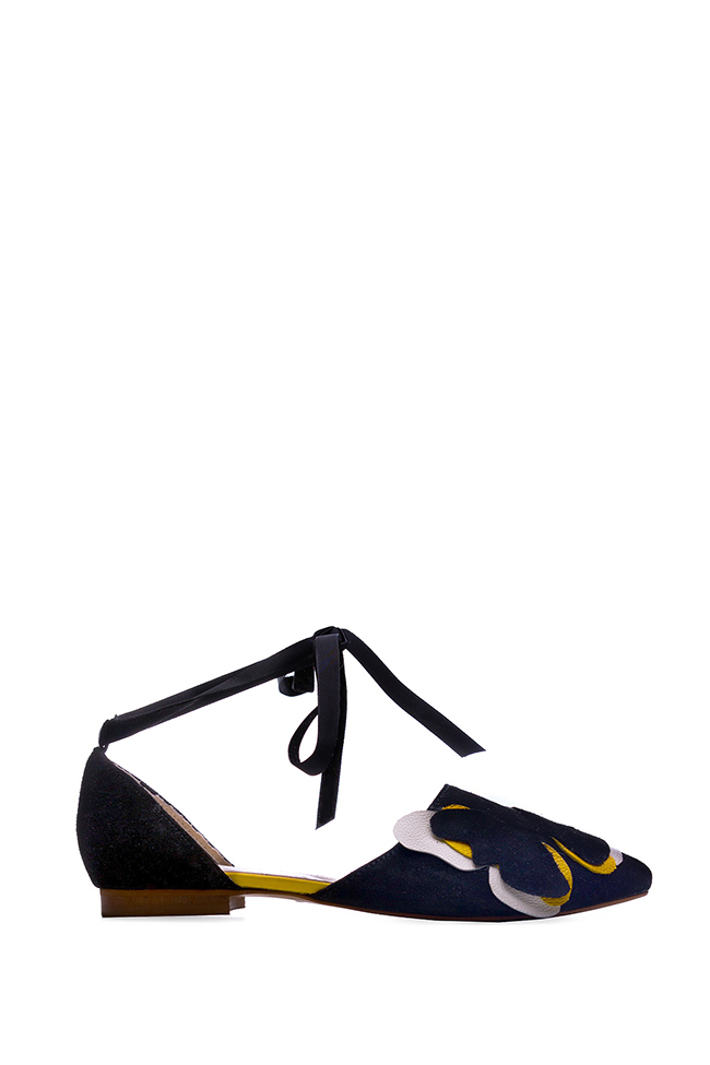 Butterfly lace-up suede flats Giuka by Nicolaescu Georgiana  image 0