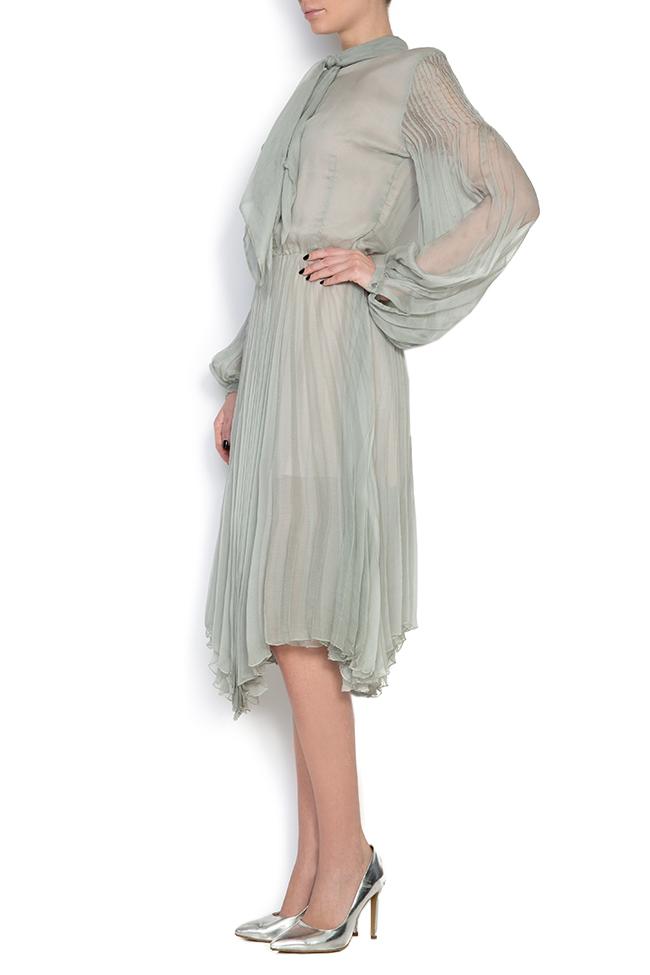 Pussy-bow silk-mousseline dress Dorin Negrau image 1