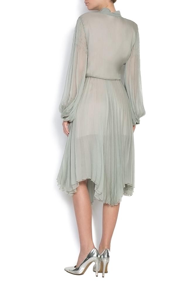 Pussy-bow silk-mousseline dress Dorin Negrau image 2