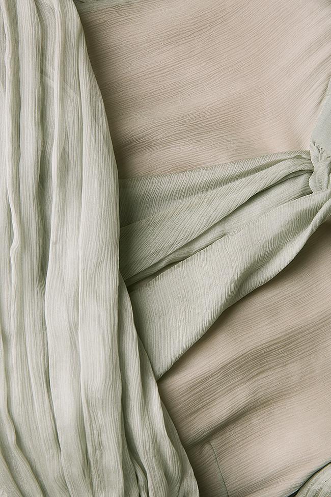 Pussy-bow silk-mousseline dress Dorin Negrau image 4