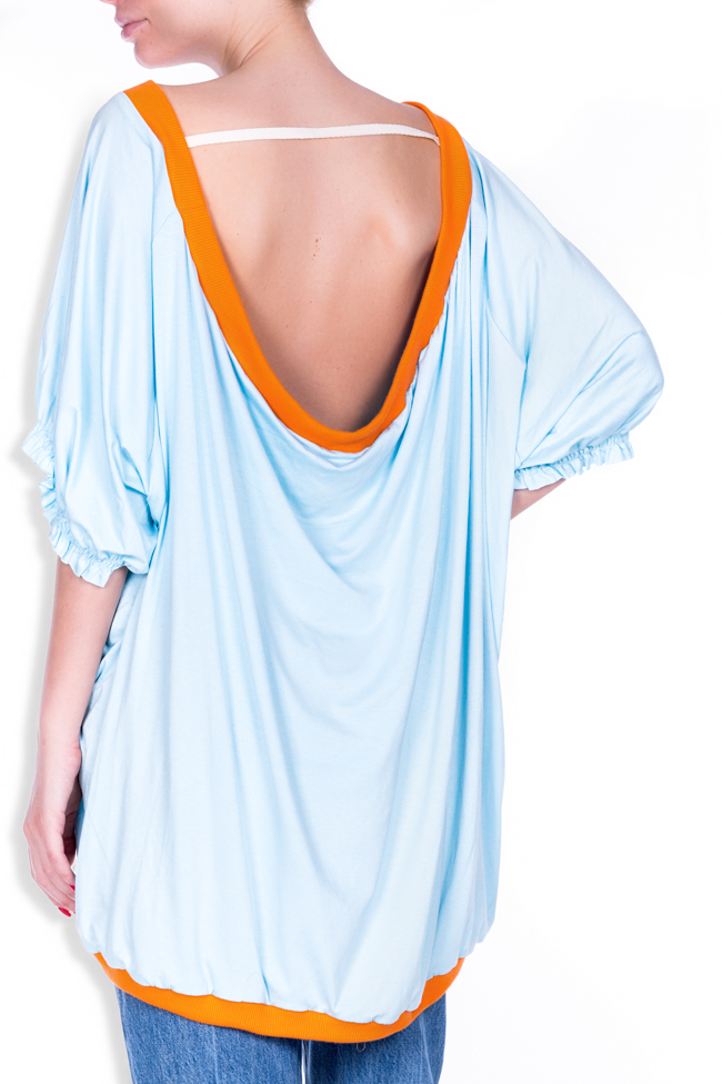 OT open-back printed cotton-blend oversized top Studio Cabal image 2