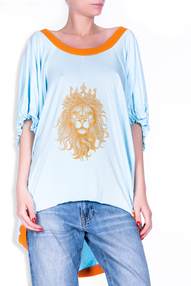 OT open-back printed cotton-blend oversized top Studio Cabal image 3
