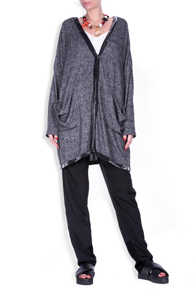 Cardigan en coton mélangé aux revers métallisés Salt Studio Cabal image 0