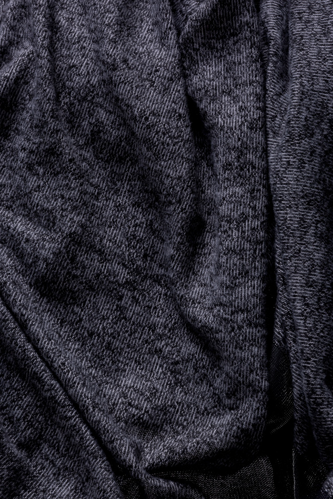 Cardigan din amestec de bumbac cu revere metalizate Salt Studio Cabal imagine 5