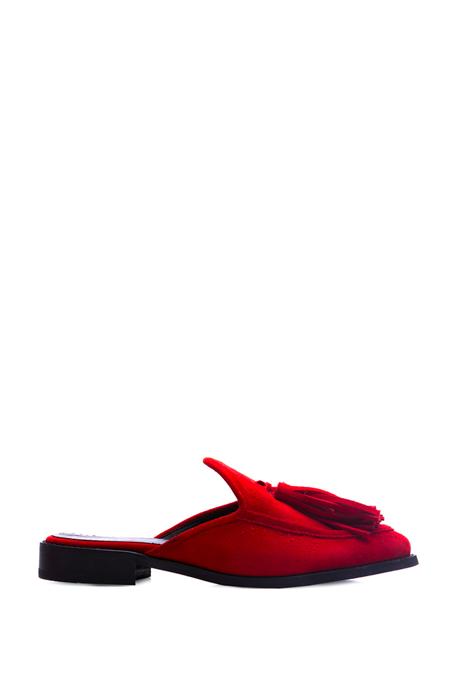 Tasseled suede  slippers Zenon image 0