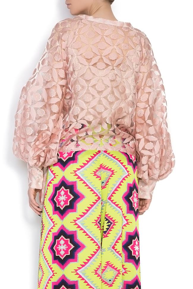 Silk-tulle wrap top Dorin Negrau image 2