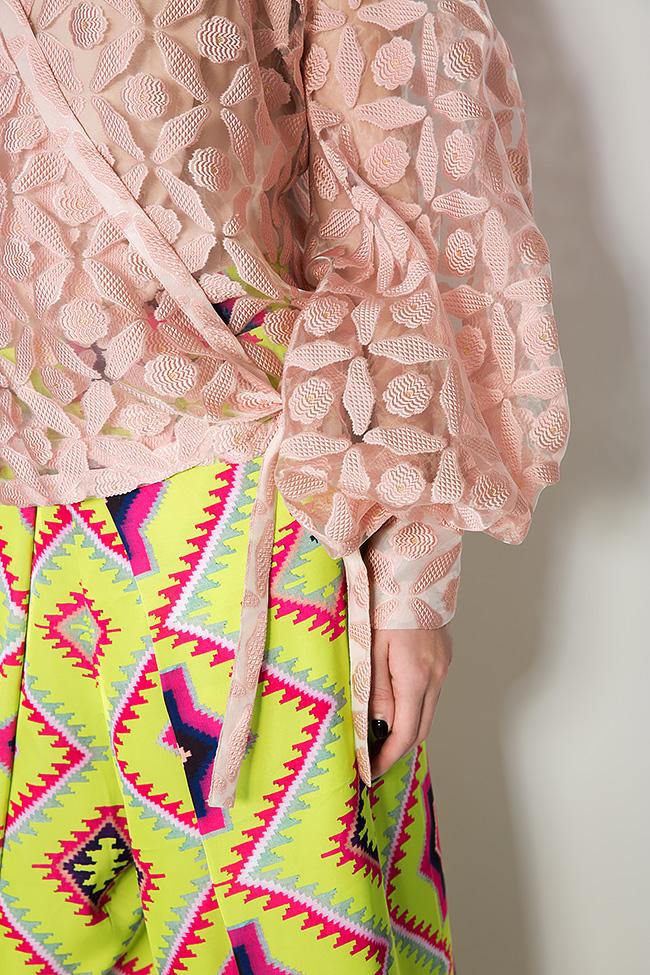 Silk-tulle wrap top Dorin Negrau image 3
