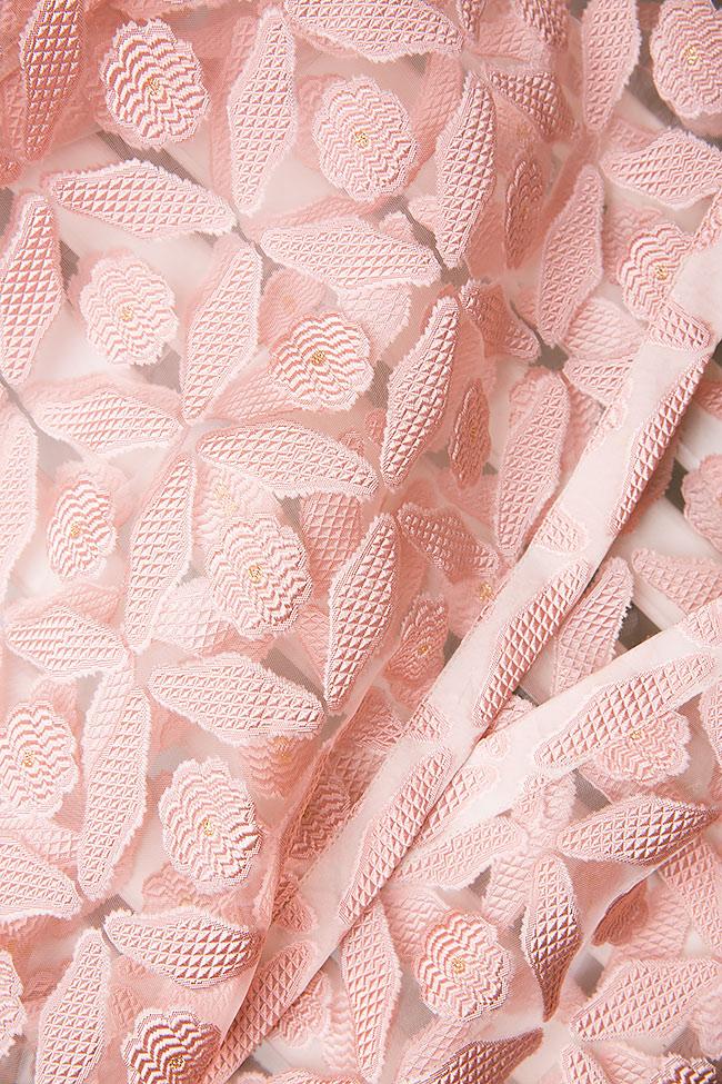 Blouse portefeuille en tulle de soie Dorin Negrau image 4