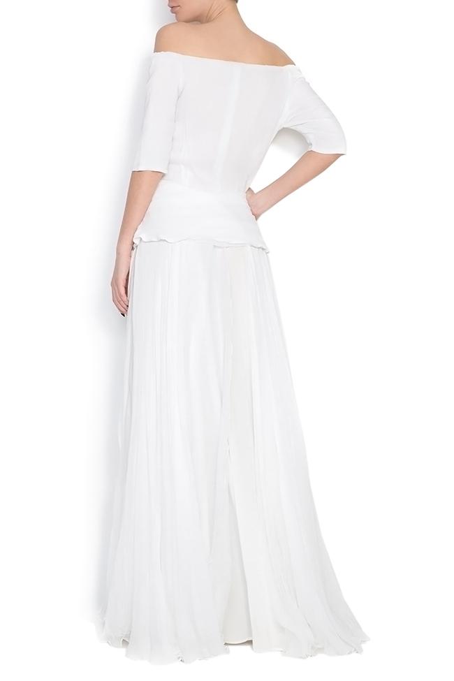 Artemis silk-mousseline peplum gown Dorin Negrau image 2