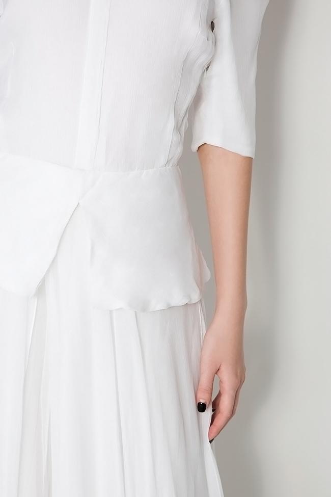 Artemis silk-mousseline peplum gown Dorin Negrau image 3