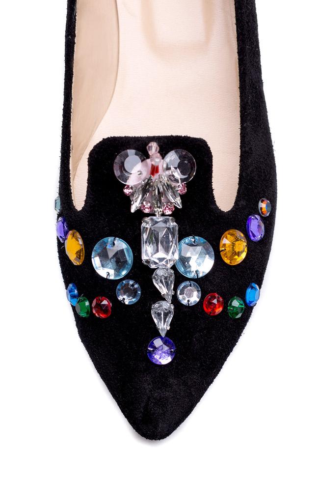 Bead-embellished suede loafers Giuka by Nicolaescu Georgiana  image 3
