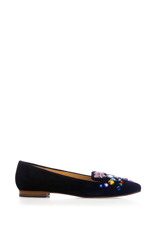Bead-embellished suede loafers Giuka by Nicolaescu Georgiana  image 0