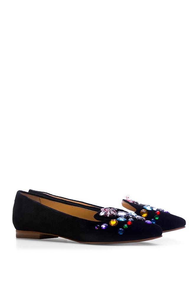 Bead-embellished suede loafers Giuka by Nicolaescu Georgiana  image 1