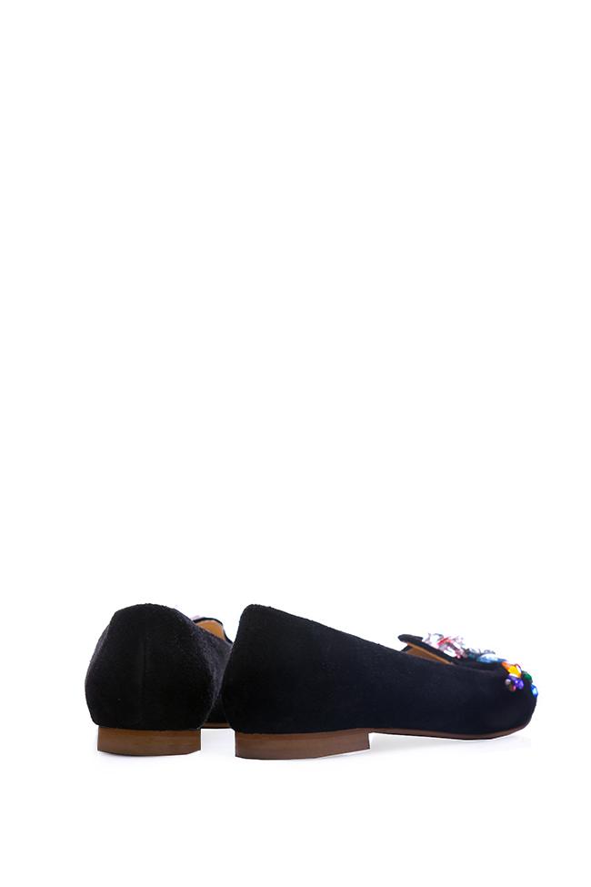Bead-embellished suede loafers Giuka by Nicolaescu Georgiana  image 2