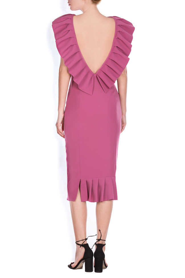 Mira ruffled open-back midi dress Ava Frid image 2