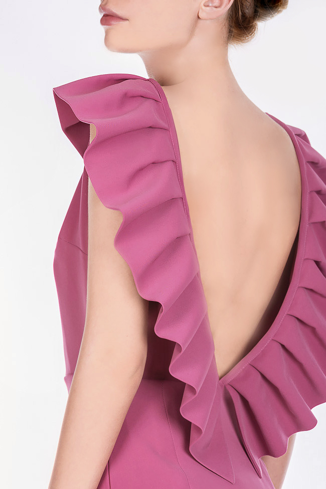 Mira ruffled open-back midi dress Ava Frid image 3