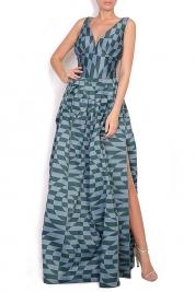 Alexandra Ghiorghie Sofia Verdis silk taffeta maxi dress