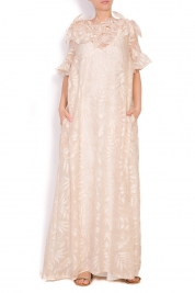 Alexandra Ghiorghie Vermon embroidered tulle maxi dress
