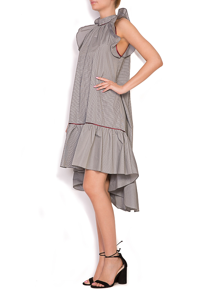 Rosin asymmetric ruffled checked mini dress Alexandra Ghiorghie image 1