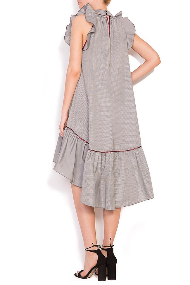 Rosin asymmetric ruffled checked mini dress Alexandra Ghiorghie image 2