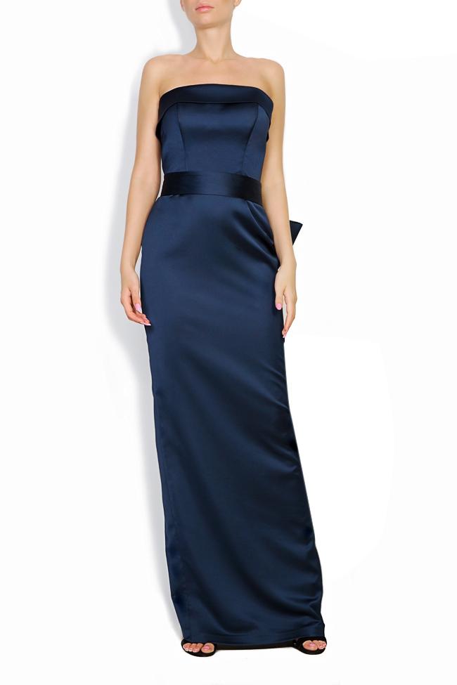 Donna bowed satin taffeta gown Ava Frid image 0