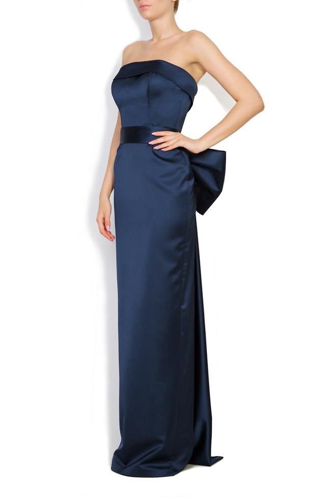 Donna bowed satin taffeta gown Ava Frid image 1