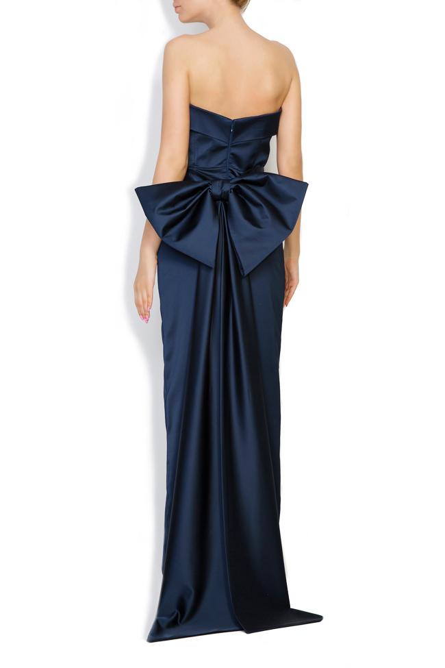 Donna bowed satin taffeta gown Ava Frid image 2