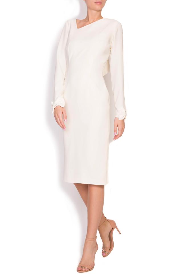 Valentina bowed crepe taffeta midi dress Ava Frid image 0
