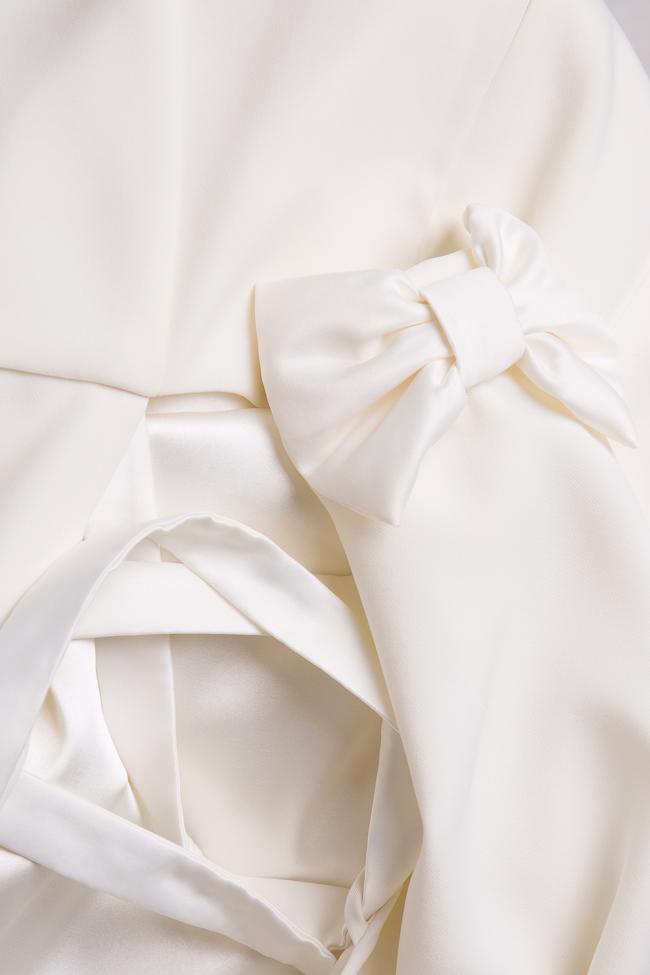 Valentina bowed crepe taffeta midi dress Ava Frid image 4