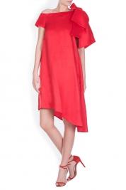 LRM Tiger Lily asymmetric linen-blend mini dress