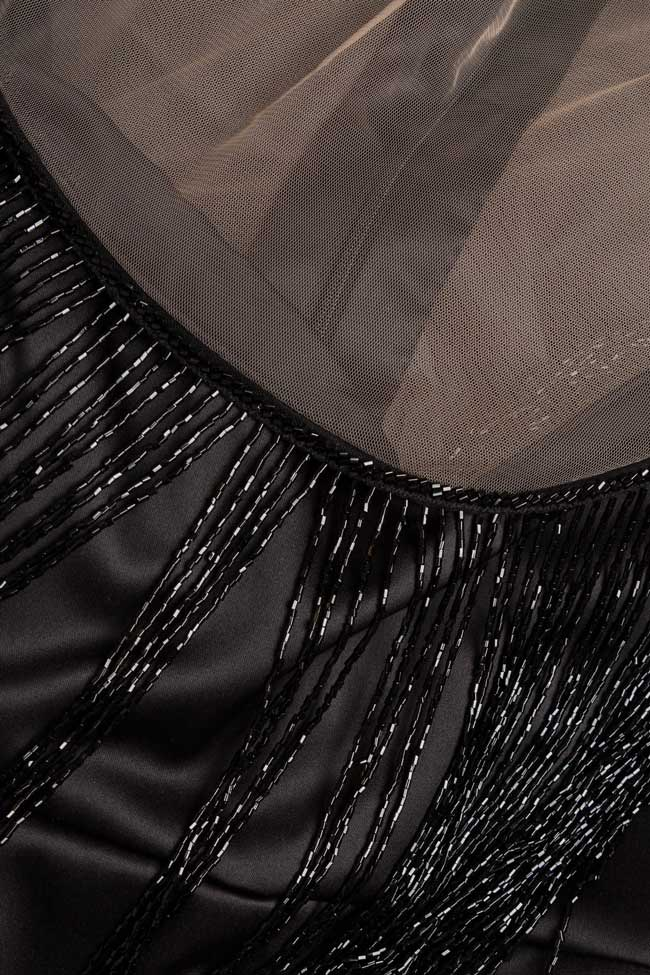 Robe en taffetas avec châle en perles  BADEN 11 image 3